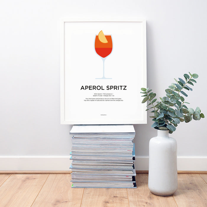 Aperol Spritz cocktail wall art