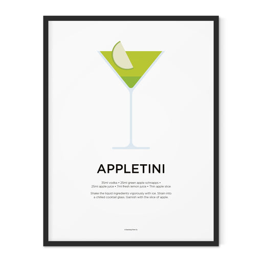 Appletini cocktail art print