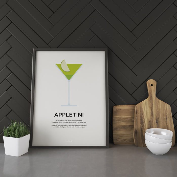 Appletini cocktail recipe print