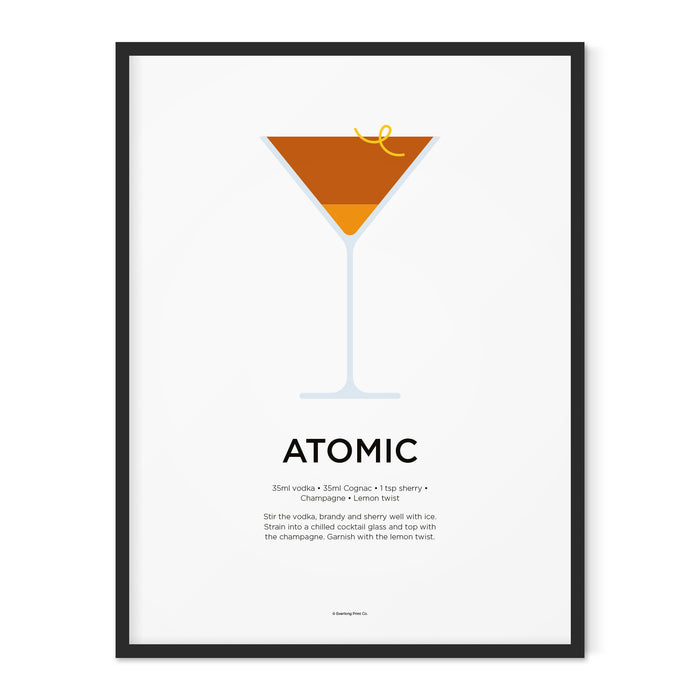 Atomic cocktail art print