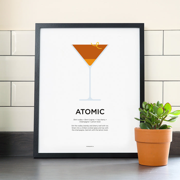 Atomic cocktail poster