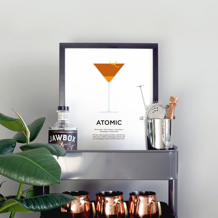 Atomic cocktail print
