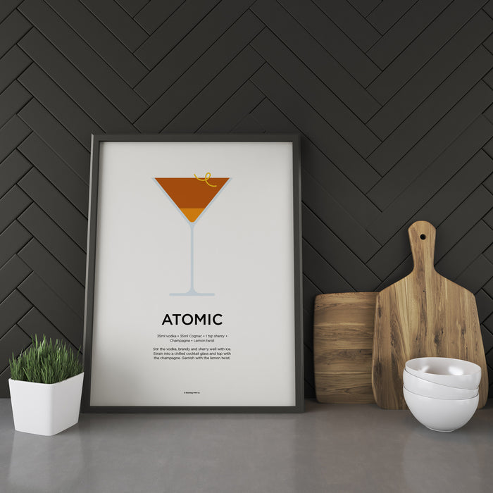 Atomic cocktail recipe print