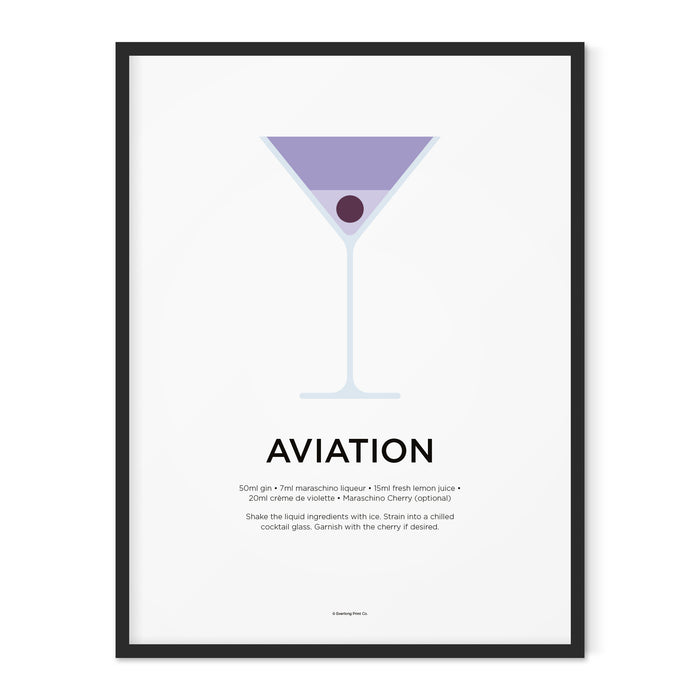 Aviation cocktail art print
