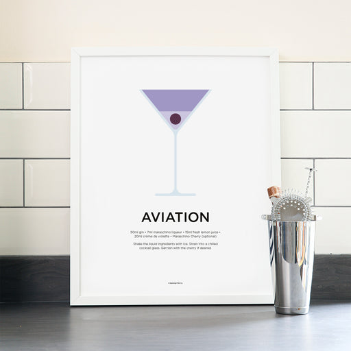Aviation cocktail poster