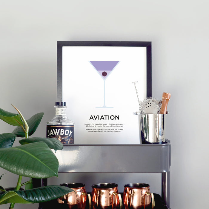Aviation cocktail print