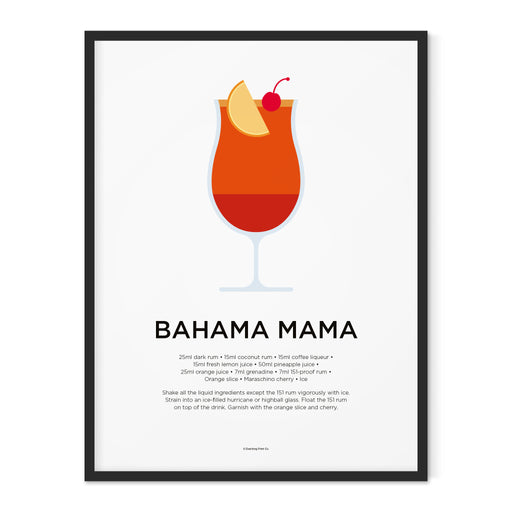 Bahama Mama cocktail art print