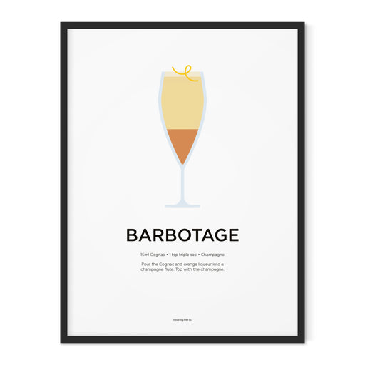 Barbotage cocktail art print