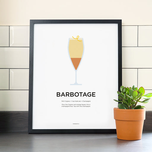 Barbotage cocktail poster