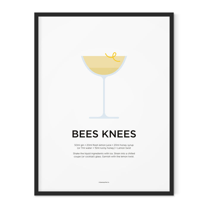 Bees Knees cocktail art print