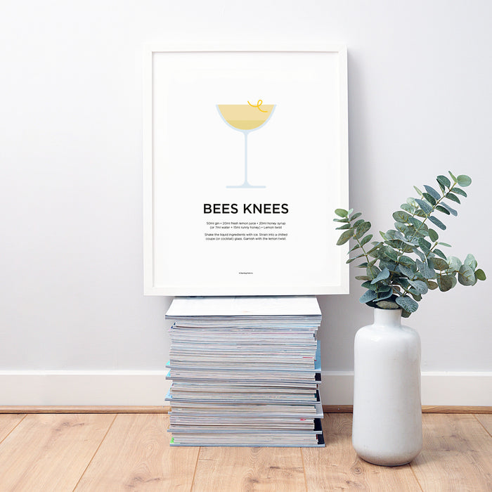 Bees Knees cocktail wall art