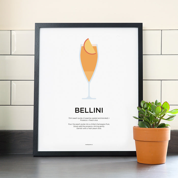 Bellini cocktail poster