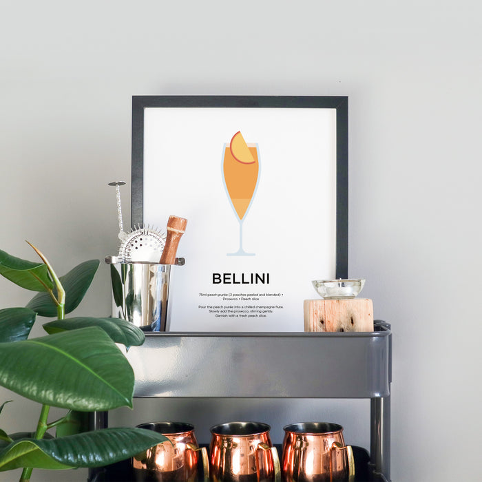 Bellini cocktail print