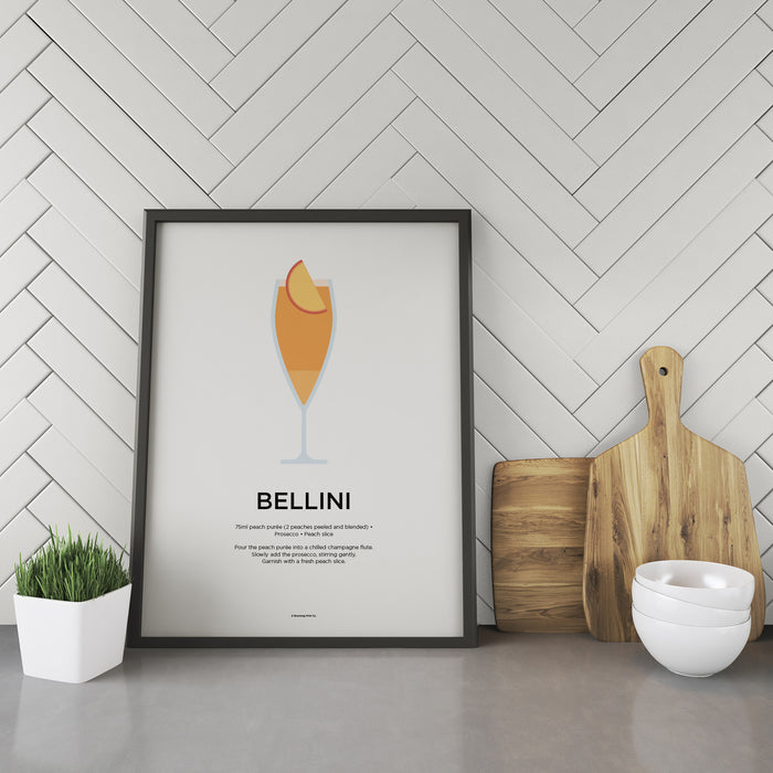 Bellini cocktail recipe print