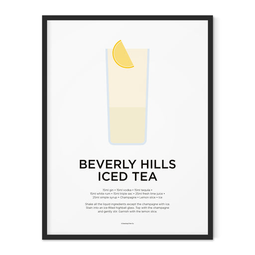 Beverly Hills Iced Tea cocktail art print
