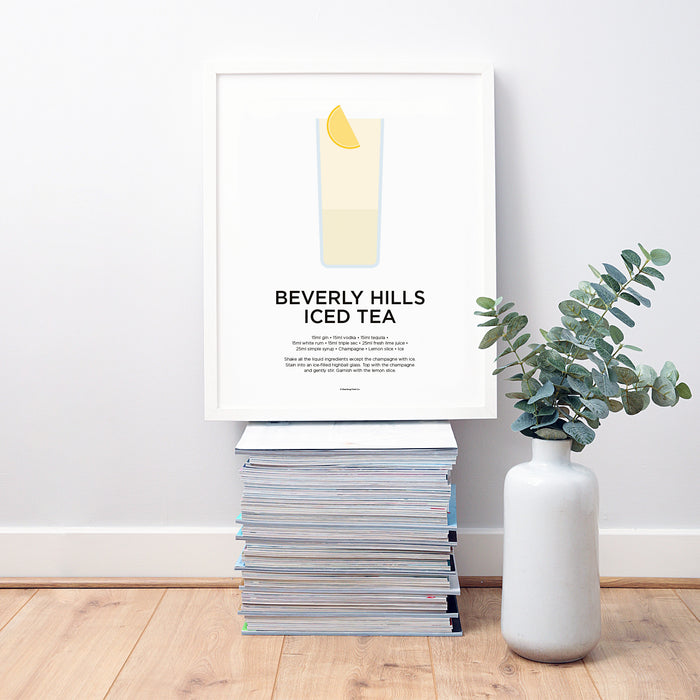 Beverly Hills Iced Tea cocktail wall art