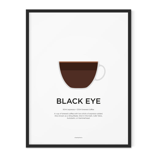 Black Eye coffee art print