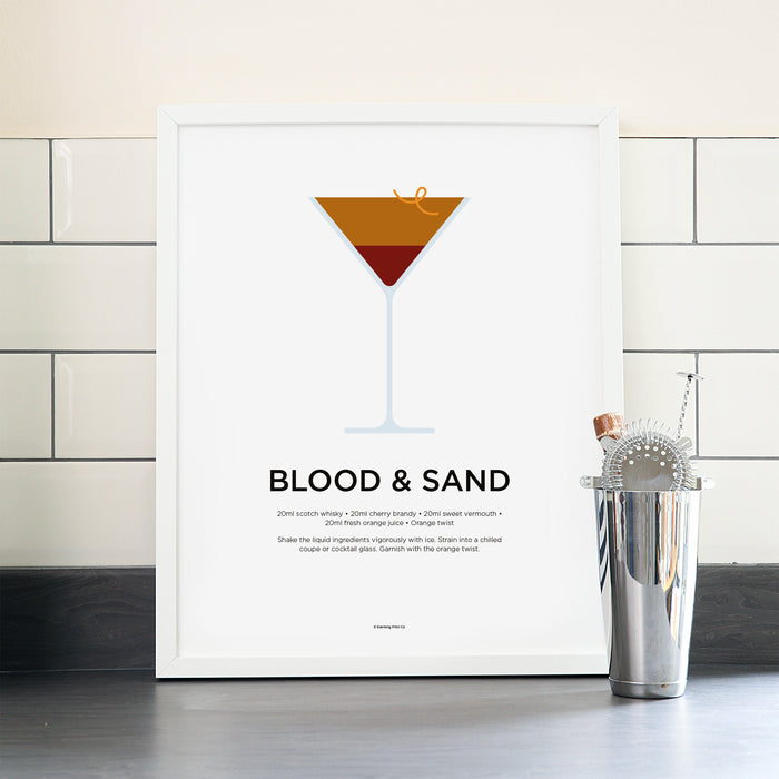 Blood and Sand cocktail poster