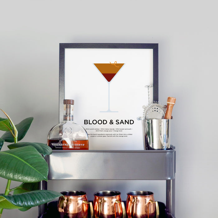 Blood and Sand cocktail print
