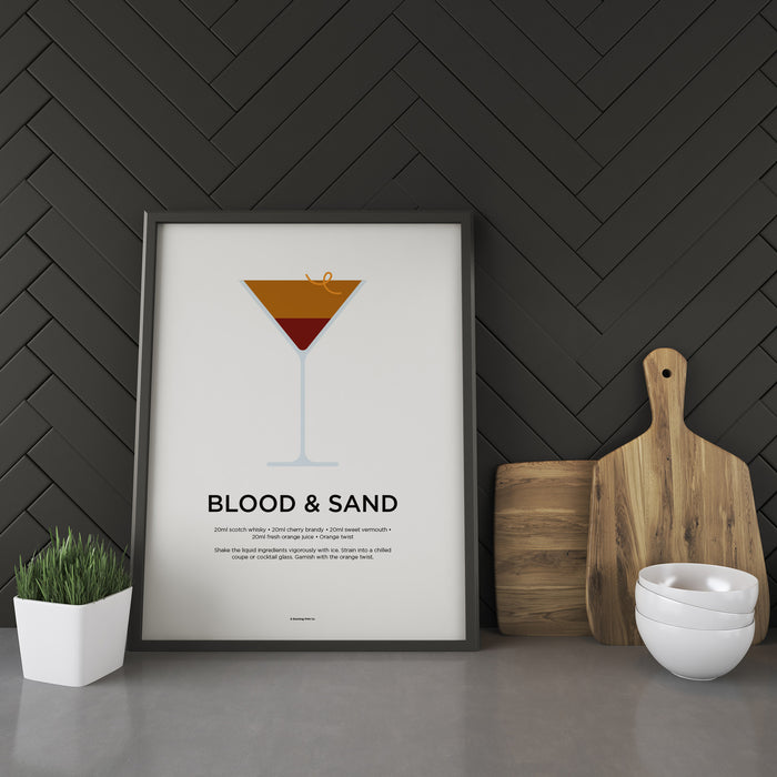Blood and Sand cocktail recipe print