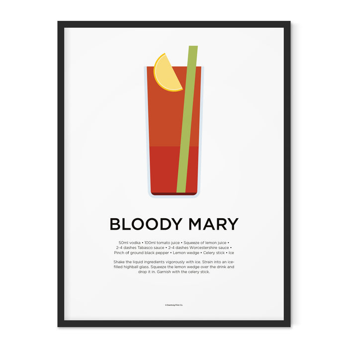 Bloody Mary cocktail art print
