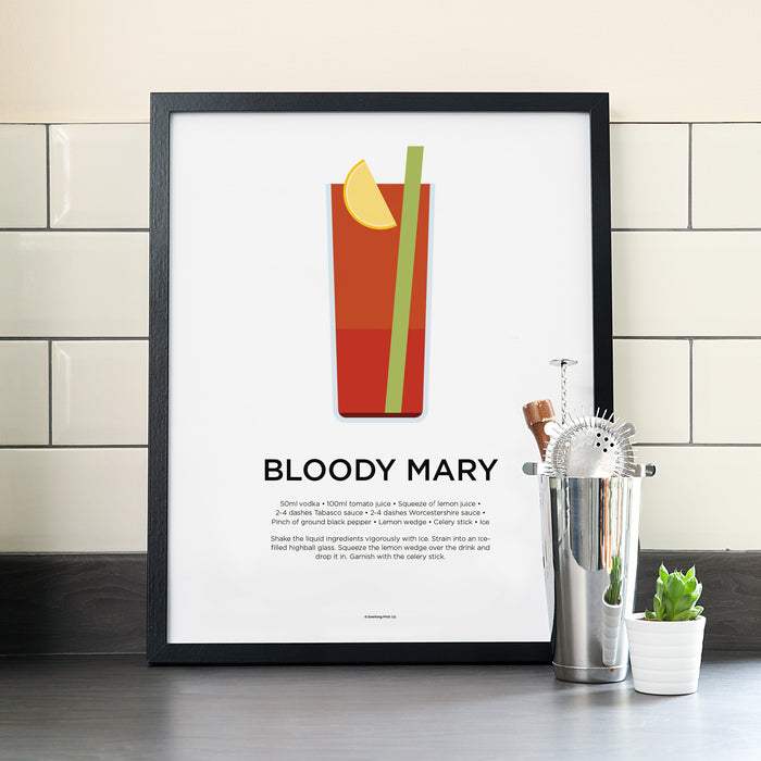 Bloody Mary cocktail poster