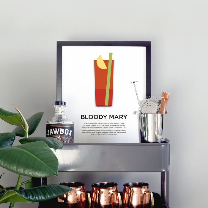 Bloody Mary cocktail print