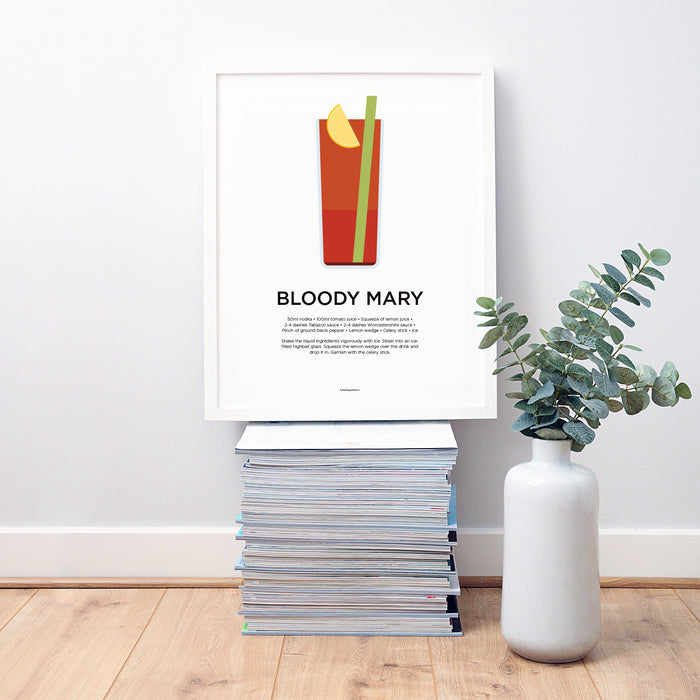Bloody Mary cocktail wall art