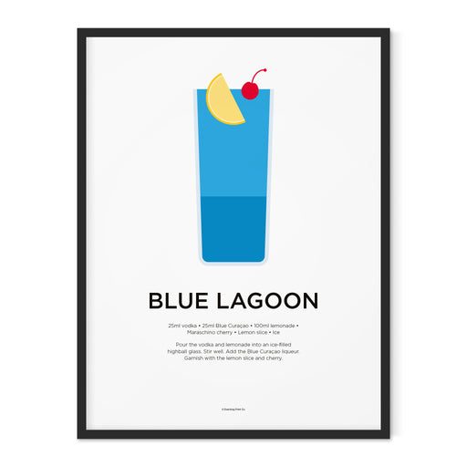 Blue Lagoon cocktail art print