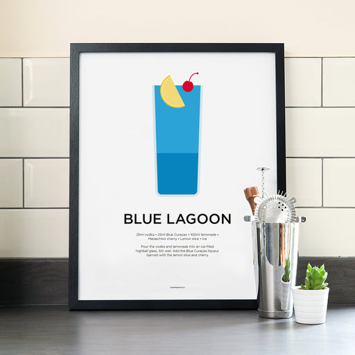 Blue Lagoon cocktail poster