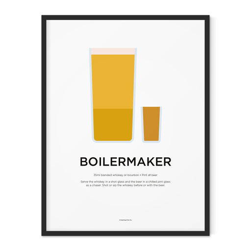 Boilermaker cocktail art print