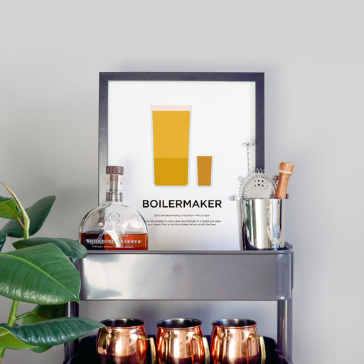 Boilermaker cocktail print