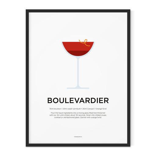 Boulevardier cocktail art print