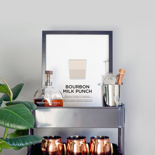 Bourbon Milk Punch cocktail print