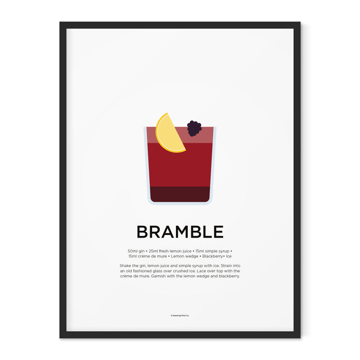 Bramble cocktail art print