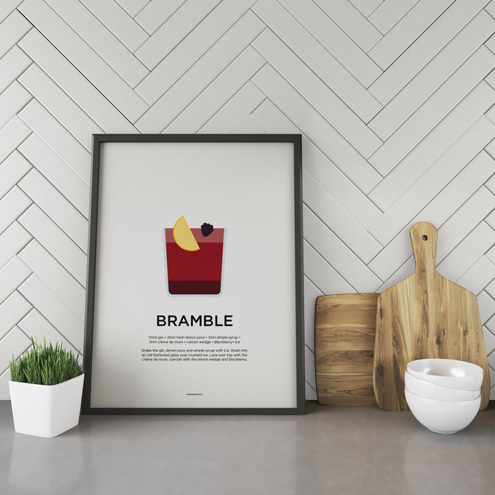 Bramble cocktail recipe print