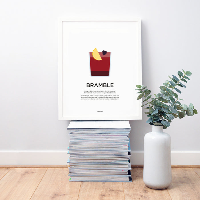 Bramble cocktail wall art
