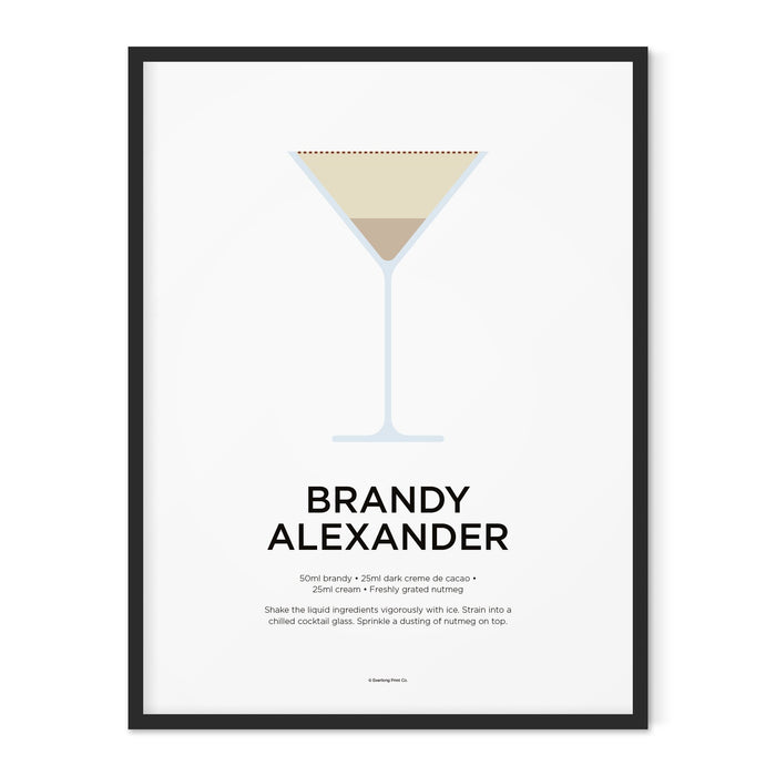 Brandy Alexander cocktail art print