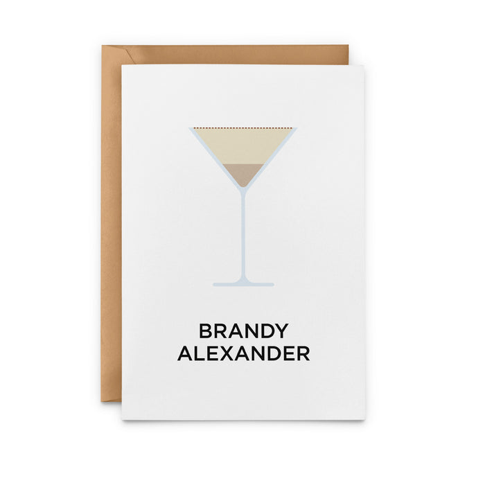 Brandy Alexander Cocktail Greeting Card