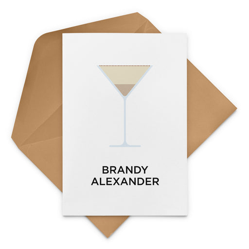 Brandy Alexander Cocktail Christmas Card