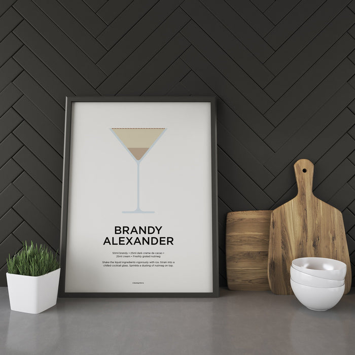 Brandy Alexander cocktail recipe print