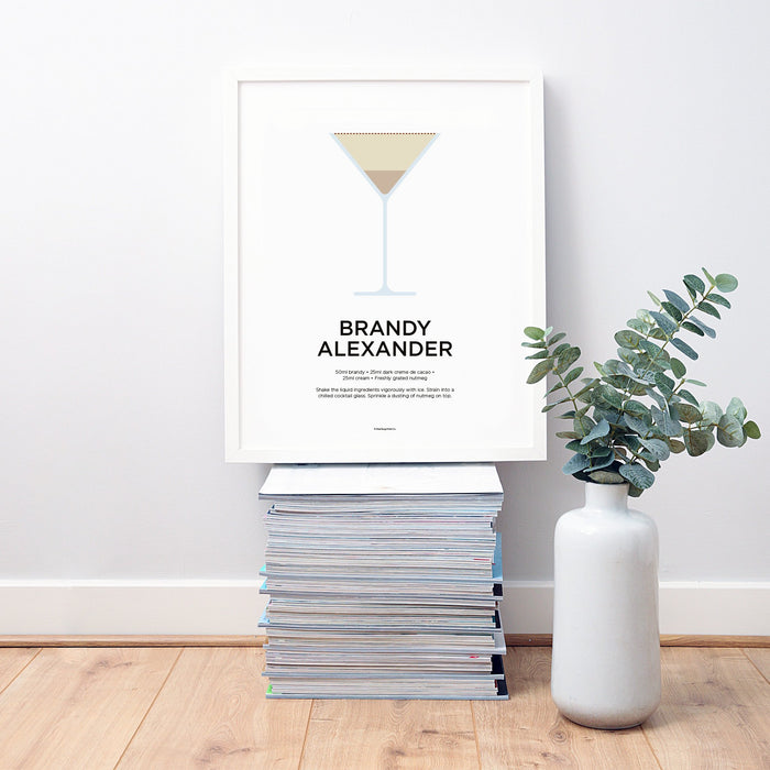Brandy Alexander cocktail wall art