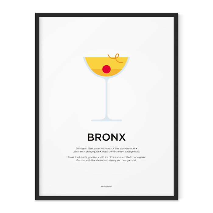 Bronx cocktail art print