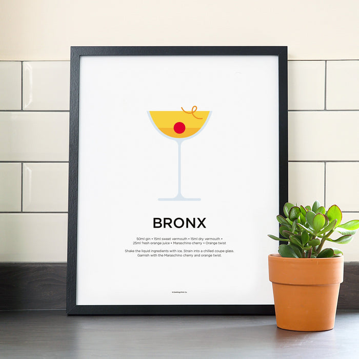 Bronx cocktail poster