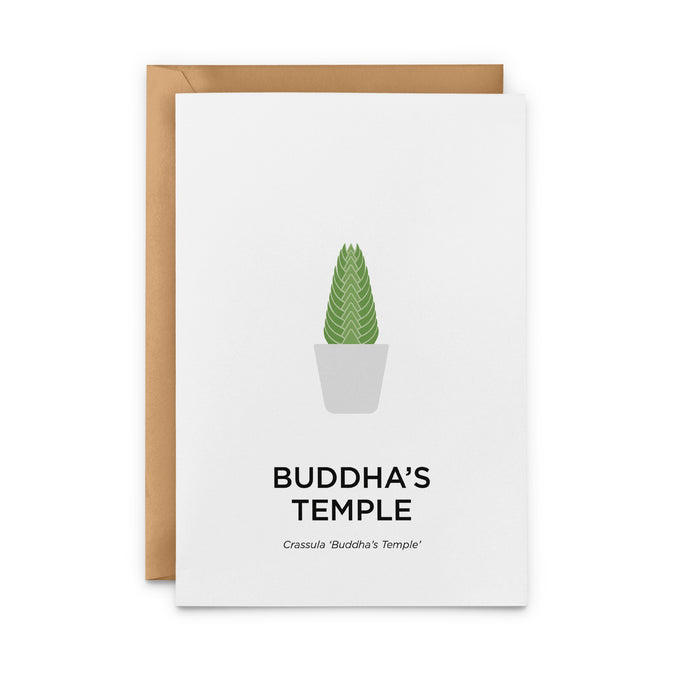 Buddha's Temple Greeting Card