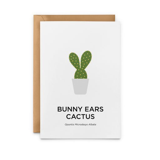 Bunny Ears Cactus Greeting Card