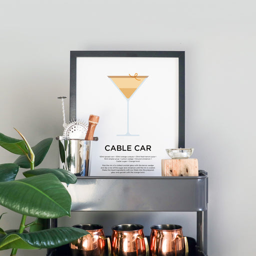 Cable Car cocktail print