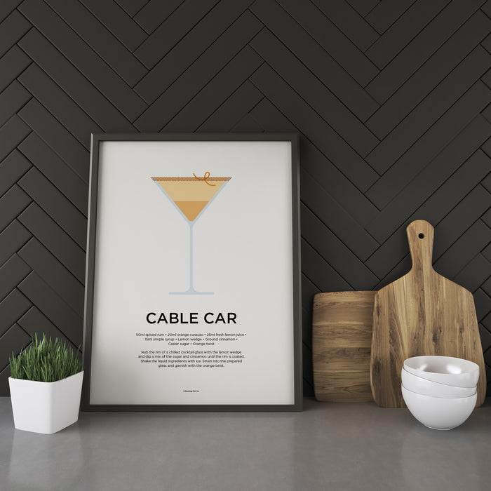 Cable Car cocktail recipe print