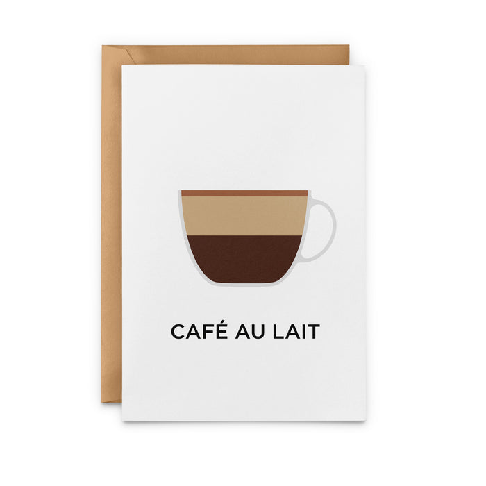 Café Au Lait Greeting Card