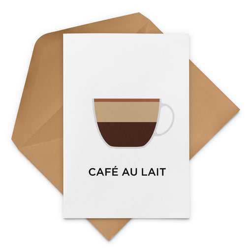 Café Au Lait Coffee Greeting Card